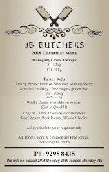 JB Butchers price list